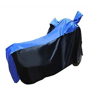 Ultrafit Two Wheeler Cover With Mirror Pocket Water Resistant For Royal Enfield Classic 350 - Black & Blue Colour