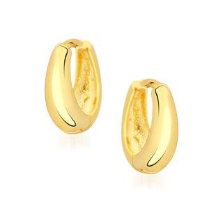 VK Jewels Sweet Kaju Bali Hoop Earrings For Men And Women - BALI1073G [VKBALI1073G]
