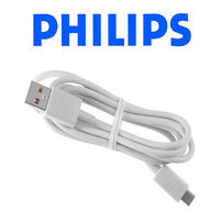 Philips Micro USB 2.0 Charger Data Cable For Samsung Galaxy S4/S6 Edge, Galaxy S5, Samsung Galaxy Note 4 (White)