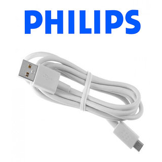 Philips Micro USB 2.0 Charger Data Cable For Samsung Galaxy S4/S6 Edge  Galaxy S5  Samsung Galaxy Note 4 (White)