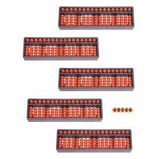 Abica Abacus math learning kit for kids Brown 17 Rod ( pack of 5 )