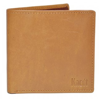 Knott Tan brown Exclusive Leather Wallet for Men
