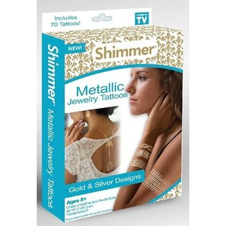 IBS Metallic Temporary Shimmer for holiday parties Tattoo Kit