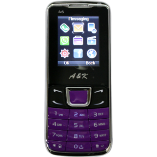 A&K A6 Mobile Purple Black
