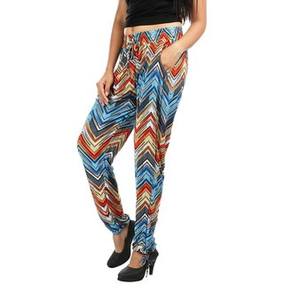 Pari Multicolour Printed Polyester Fabric Designer Pants For Women