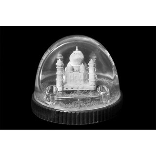 tajmahal in water very nice gift home decor item in plastic body with sparkles - Home Decor Item