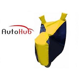 Ultrafit Premium Quality Bike Body Cover Water Resistant For Honda Livo - Black & Yellow Colour