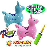 Gymnic Rody Jr. Light Blue & Light Pink Twin Gift Set B