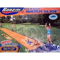 Banzai Soak 'N Splash Mega Water Slide With NEW Slickes