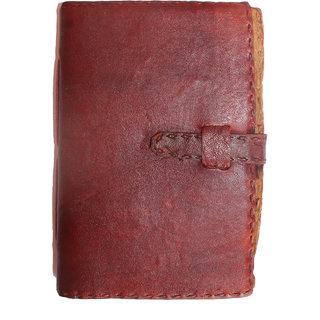 Handmade leather cover TC notebook with belt lock (7x5 inch)