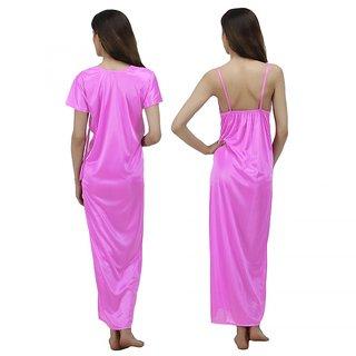 316aa64180 Buy Arlopa 2 Pieces Nightwear in Satin Robe With Nighty Online - Get ...