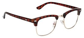 Zyaden Brown Clubmaster Eyewear Frame 182