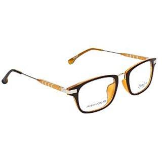 Zyaden Black Rectangle Eyewear Frame 108