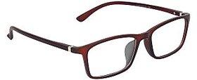 Zyaden Brown Rectangle Eyewear Frame 226