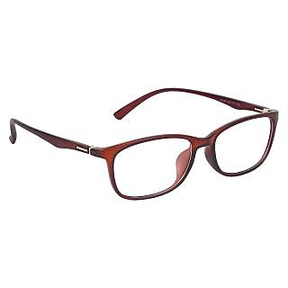 Zyaden brown Rectangle Eyewear Frame 237