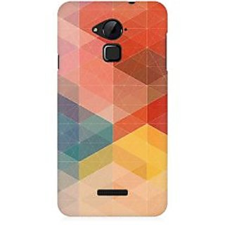RAYITE Colourful Geometric Pattern Premium Printed Mobile Back Case Cover For Coolpad Note 3