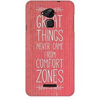 RAYITE Comfort Zone Premium Printed Mobile Back Case Cover For Coolpad Note 3