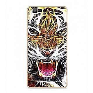 Fuson Designer Phone Back Case Cover Oppo F1 ( The Growling Tiger Face )