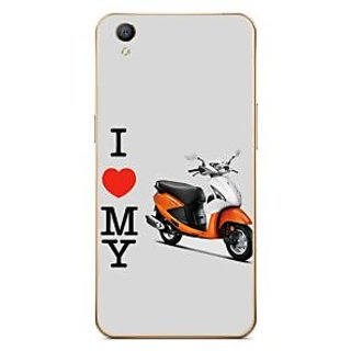Fuson Designer Phone Back Case Cover Oppo A37 ( The Love For The Scooter )