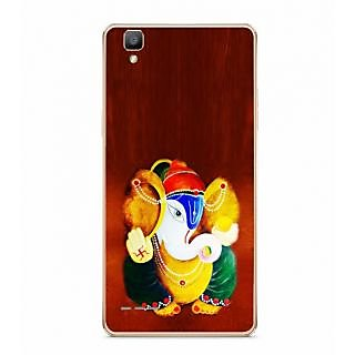 Fuson Designer Phone Back Case Cover Oppo F1 ( Painting Of Lord Ganesha )