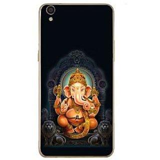 Fuson Designer Phone Back Case Cover Oppo F1 Plus ( Lord Ganesha Sitting )