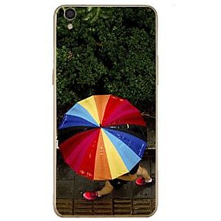Fuson Designer Phone Back Case Cover Oppo F1 Plus ( Walking With An Umbrella )