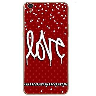 Fuson Designer Phone Back Case Cover Oppo F1 Plus ( The Written Word Love )
