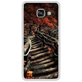 Fuson Designer Phone Back Case Cover Samsung Galaxy A7 (6) 2016 ( Spooky Jagged Wooden Zigzag Stairway )