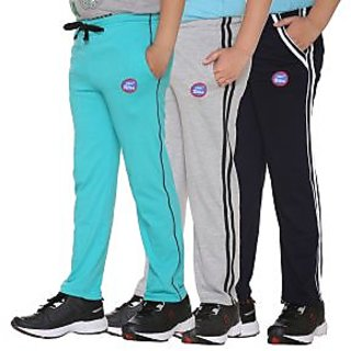 Vimal-Jonney Multicolor Cotton Blended Trackpants For Boys(Pack Of 3)