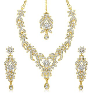 Sukkhi Gold Plated Gold Alloy Necklace Set For Women