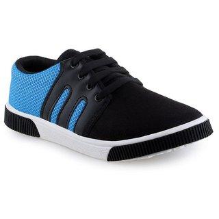 Earton Men's Black & Blue Lace-up  Sneakers