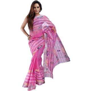 10der Bengal Tant Sarees | Pink | 1