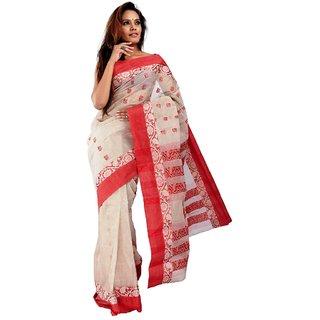 10der Bengal Tant Sarees | Beige | 20