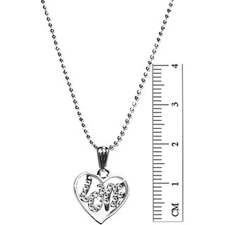 Jewelmaze Silver Austrian Diamond Casual Silver Plated Traditional/Ethnic Pendant With Chain Only