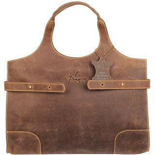 Pingooz Brown Plain Handbag