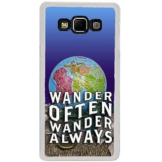 Fuson Designer Phone Back Case Cover Samsung Galaxy A8 (2015) ( Traveling Is Fun )