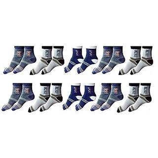 Men's Multicolor Cotton Ankle Socks Pack Of 10