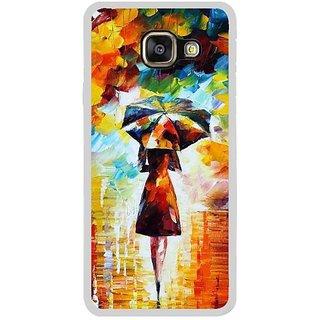 Fuson Designer Phone Back Case Cover Samsung Galaxy A3 (6) 2016 ( Girl Walking With Her Umbrella )