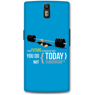 One Plus One Designer Hard-Plastic Phone Cover From Print Opera -Your Future Is Created By What