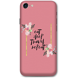 Iphone 7 Designer Hard-Plastic Phone Cover From Print Opera -Eat Sleep Travel Repeat
