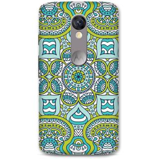 Moto X Force Designer Hard-Plastic Phone Cover From Print Opera -Graphic Blue Green Print