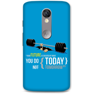 Moto X Force Designer Hard-Plastic Phone Cover From Print Opera -Your Future Is Created By What