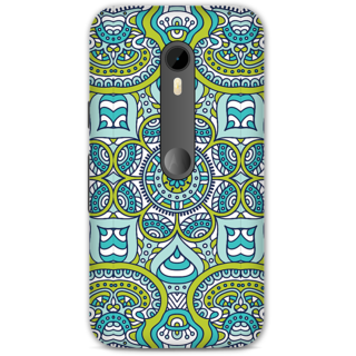 Moto G3 Designer Hard-Plastic Phone Cover From Print Opera -Graphic Blue Green Print