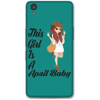 One Plus X Designer Hard-Plastic Phone Cover From Print Opera -April Baby Girl