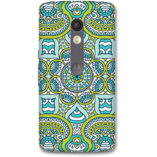 Moto X Play Designer Hard-Plastic Phone Cover From Print Opera -Graphic Blue Green Print
