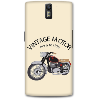 One Plus One Designer Hard-Plastic Phone Cover From Print Opera - Vintage Motor