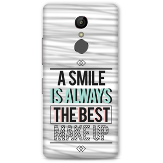 Gionee S6S Designer Hard-Plastic Phone Cover From Print Opera -Smile Is Best Makeup