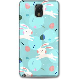Samsung Galaxy Note 3 Designer Hard-Plastic Phone Cover From Print Opera - Floral Rabbit