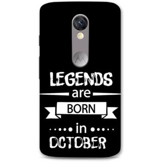 Moto X Force Designer Hard-Plastic Phone Cover From Print Opera -October Born
