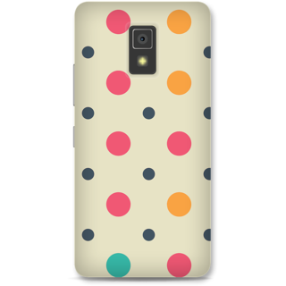 Lenovo A6600 Designer Hard-Plastic Phone Cover From Print Opera -Colored Dots